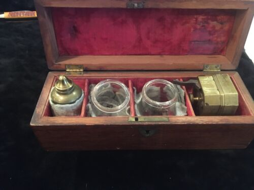 Antique bleeding and cupping set