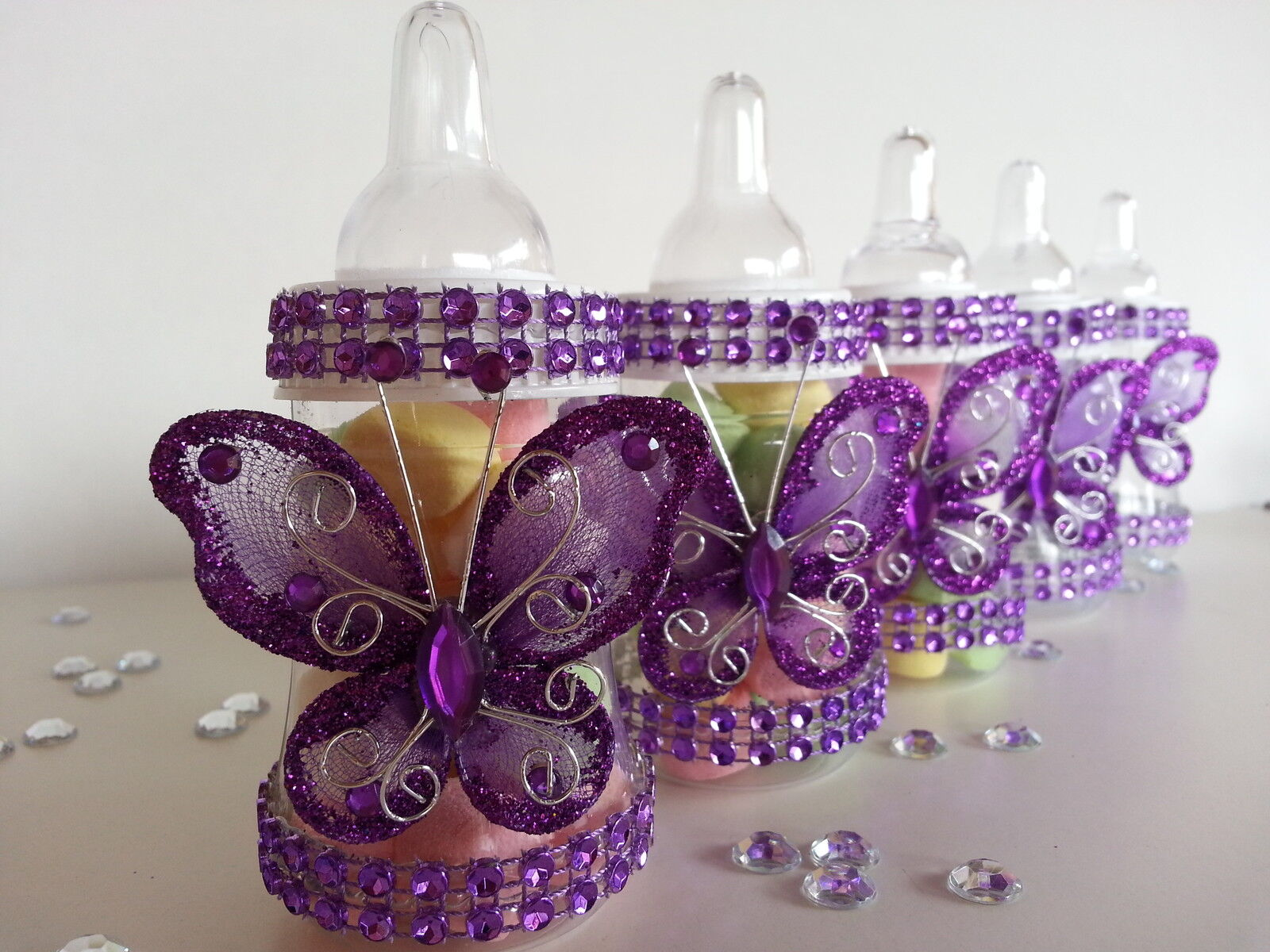 fillable butterfly bottles baby shower favors prizes girl decorations