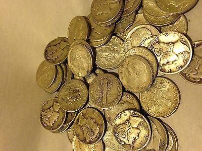 SPECIAL =1/4OZ.++ 90%   JUNK  SILVER COIN LOT- NO  NICKELS!!!
