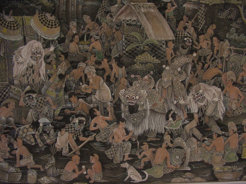 ANTIQUE INDONESIA PAINTING