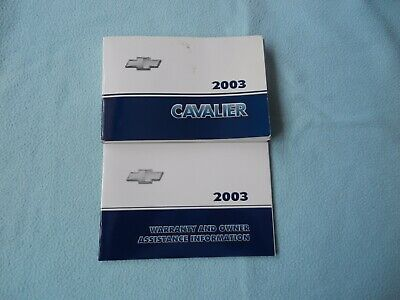 2003 Chevrolet Cavalier Owners Manual Chevrolet Cavalier Owners Manual