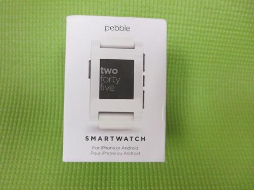 Pebble Smartwatch 33mm Plastic White Silicone 301WH