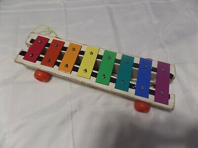 FISHER PRICE 1964-1978 XYLOPHONE PULL toy 870 Musical Toy Collectible Vintage