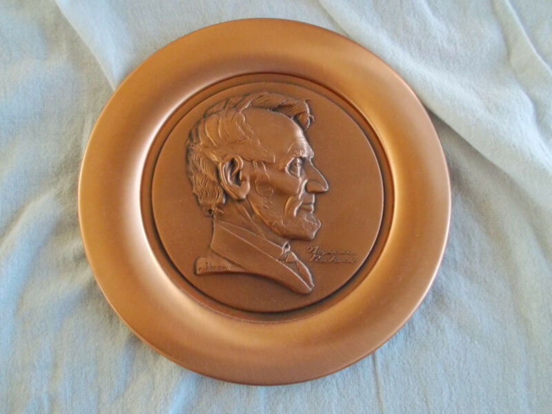 LINCOLN PLATE BY RIVER SHORE PRODUCTION - PURE COPPER - ROCKWELL DESIGN
