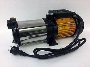 Kreiselpumpe 1100 Watt megafixx HMC5SA mehrstufig 5 Edelstahl Laufräder 5,5 BAR