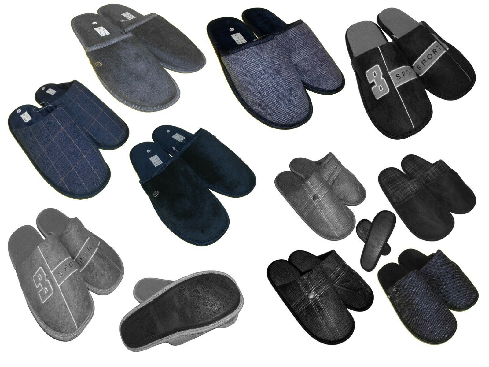 Men's House Shoes Slippers Mule Slippers Size 44-46 Model to choose New