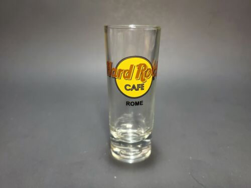 Hard Rock Cafe Rome Classic Logo Shot Glass Double Black Circle