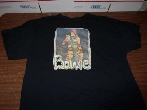 Classic Gilden David Bowie Black Concert Tee-Shirt XL Vintage