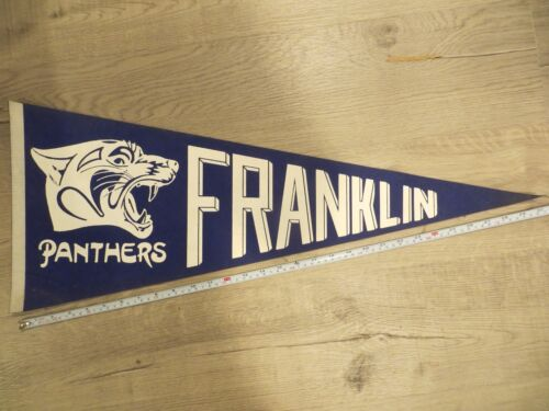 Franklin Panthers Massachusetts High School Mass MA Felt Pennant Flag Football