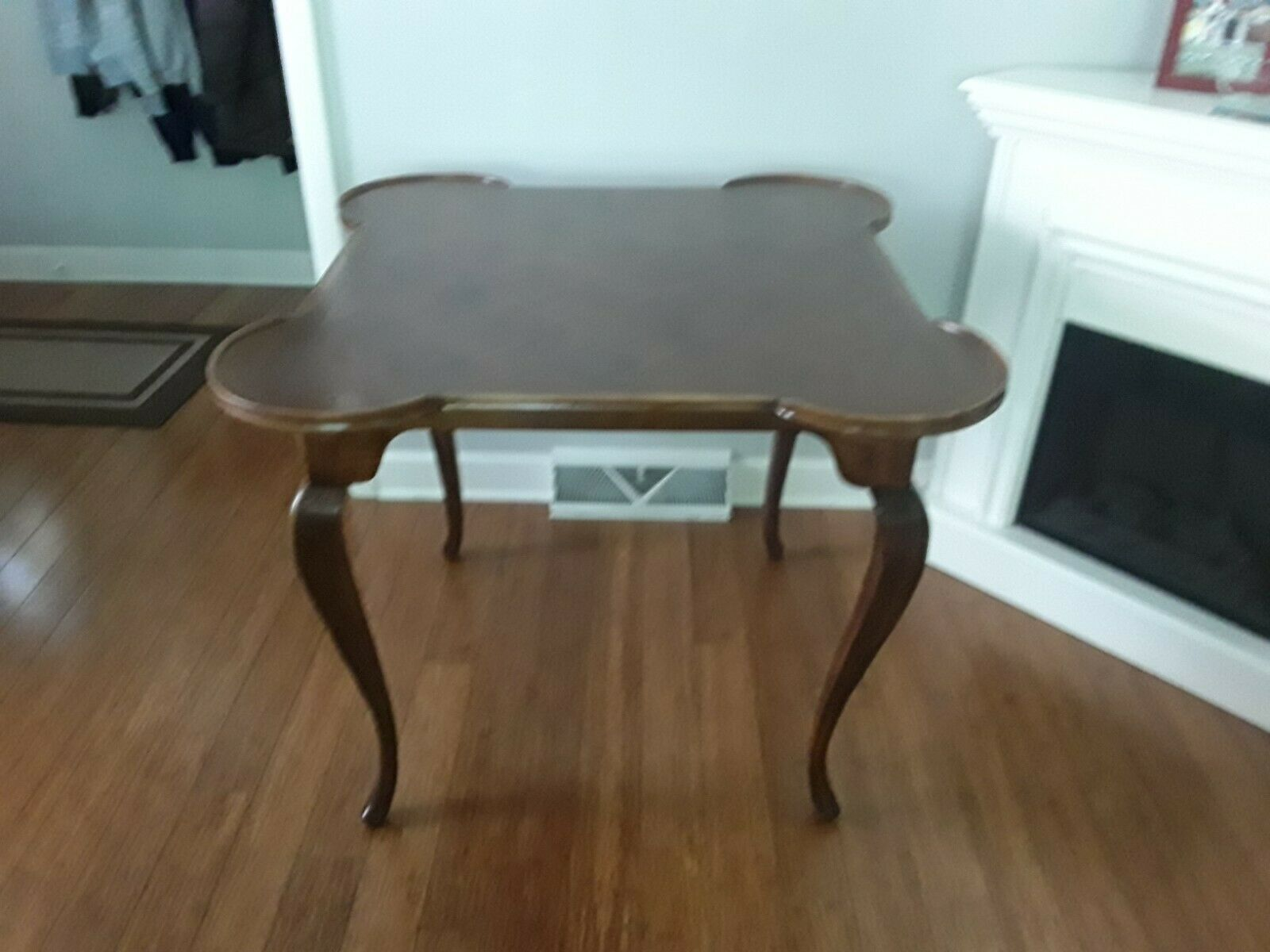 Italian Oak Game Table Wood Parquet Inlay Vintage - $325.00