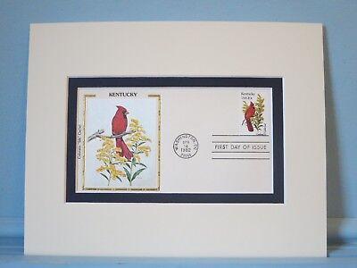 State Bird & Flower of Kentucky - Cardinal & Goldenrod & First Day Cover