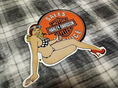 Vintage Antique Harley Davidson Porcelain Sign