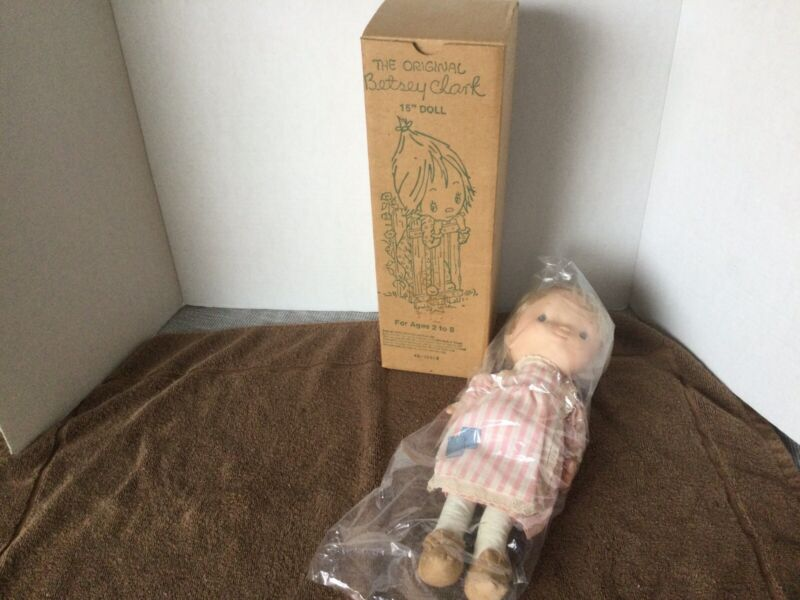 """Knickerbocker The Original Betsey Clark Doll 15"""" Hallmark Cards 1975 RARE NIB"""