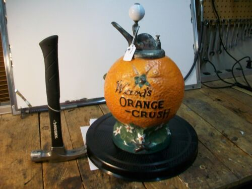 MAKE OFFER.  SEE THE VIDEO! Orange Crush WARDS Syrup fountain Dispenser vintage