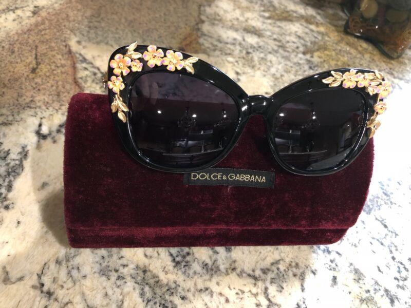 f3b7da021cd56 DOLCE GABBANA Sunglasses DG 4230 50187 Black Almond Flowers ...