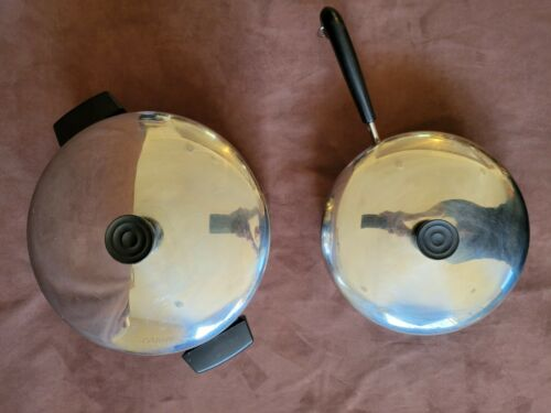 1801 Stainless Steel REVERE WARE 6 qt POT 97e & 9 inch PAN 97b LOT Clinton IL