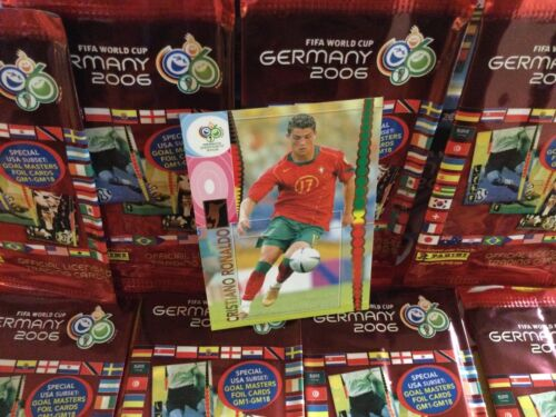 2006 Panini World Cup Soccer Germany Cristiano Ronaldo Portugal Futbol Gol - $600.00