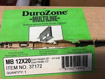 Dura Zone 37172 Multi-blade 12 X 20 Motorized Rectangular Air Hvac Damper 24v