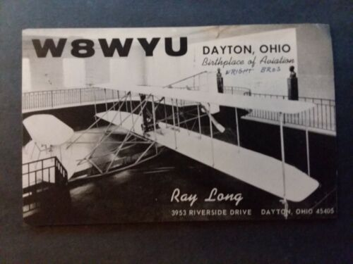 "DAYTON, OHIO- ""BIRTHPLACE OF AVIATION""- RAY YOUNG- RIVERSIDE DRIVE- W8WYU- 1966"