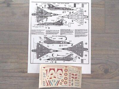 "MIRAGE-IIIC ""3 FRENCH/VEXIN DESERT CAMO/CIGOGNES SQUADRON"" AIRFIX DECALS 1/72"