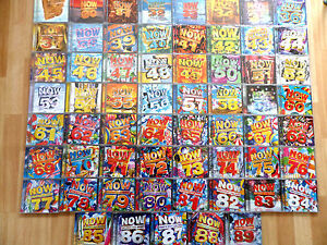62 x NOW THAT'S WHAT I CALL MUSIC 29 TO 89 & 94 *SEALED* CD JOBLOT COLLECTION.