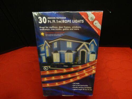 SWC Rope Light RED 30 ft x 2 indoor outdoor 360 bulbs