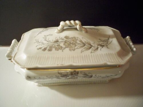 ANTIQUE IRONSTONE CASSEROLE COVERED DISH