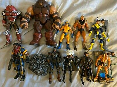 Marvel Legends Select X-men, Juggernaut, Avalanche, Wolverine, action figure lot