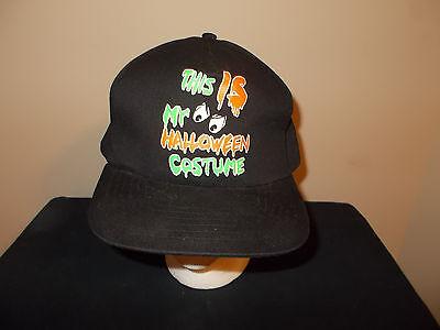 1990 Movie Halloween Costume (VTG-1990s Halloween Ghost retro scary costume movie style snapback hat)