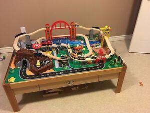 Train table and train set