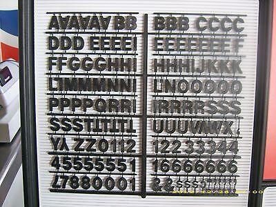 """1"""" Coca-Cola Black Menu Board Letters,Numbers & Symbols Set"""