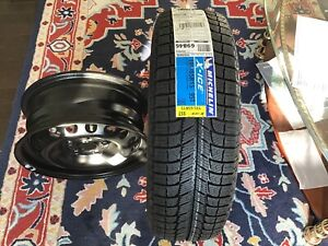 """4Michelin new X ice 3 tyres 195/65/r15/with 4 Vw blk/stl15""""rim"""
