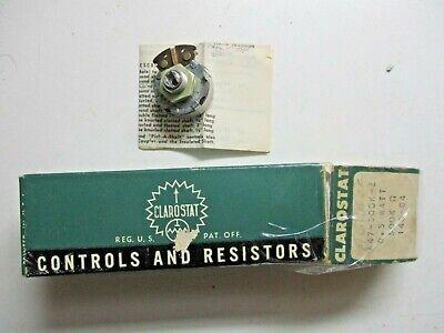 Vintage Clarostat Usa A47-500k-z 0.5 Watt 500k Ohm 140-84 Switch Potentiometer
