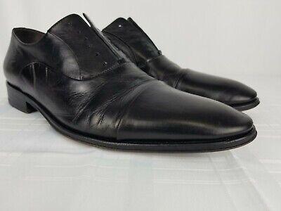 Cap Toe Nappa Oxford - Bruno Magli Maioco Black Nappa Leather Cap Toe Oxford Mens Size 9.5 M $425 MSRP