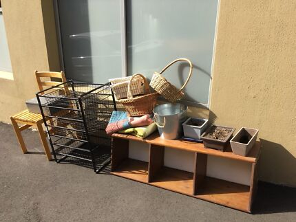 Free furniture and house wares, plants