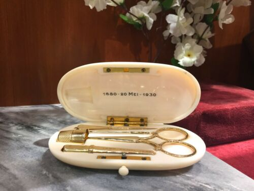 GOLD SEWING KIT from 1930