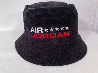AIR JORDAN JUMPMAN CORDUROY BUCKET HAT CAP - Black