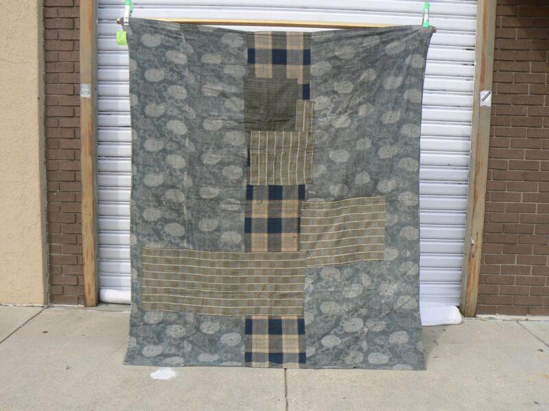 JT 302 Antique Patchwork Japanese Indigo Cotton Futon Cover Boro Textile
