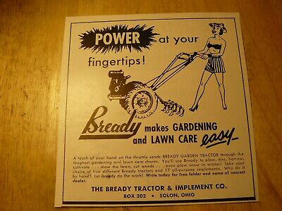 The FARM QUARTERLY-AD-SPRING 1951- BREADY GARDENING AND LAWN CARE / Solon, OH
