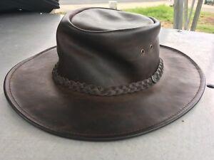 a058fa0e757 Jaxon   James crushable wide brimmed outback hat mint condition ...