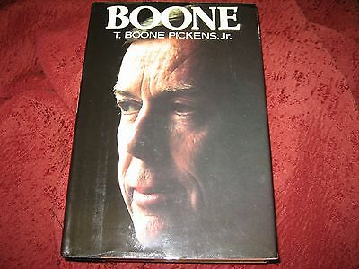 Boone By T  Boone Pickens And T  Boone Pickens Jr   1987  Hardcover Signed