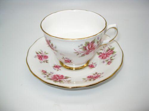 Vintage Colclough Bone China Cup & Saucer Roses Gold Trim Ridgway England 8256