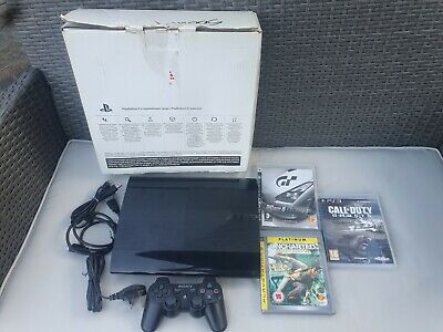 Sony PlayStation 3 Super Slim Bundle 500 GB With 3 Games.