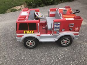 Child's Ride on Fire Truck