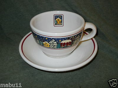 ONEIDA HOLIDAY HARBOR CUP AND SAUCER SET