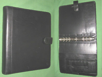 Monarch 1.25 Black Leather Franklin Covey Planner 8.5x11 Open Binder 6022