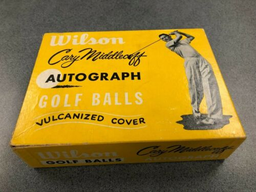 Nine Early 1960s Mint Condition Cary Middlecoff Wilson Golf Balls - Original Box