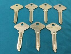 Vintage Yale & Towne GF 7.5 pin Key Blanks, Set of 7 - Locksmith