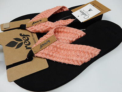 REEF WOMENS SANDALS CUSHION THREADS CORAL SIZE 10 Womens Coral Reef