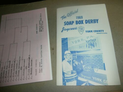 Vintage 1969 Soap Box Derby Program York County PA Jaycees